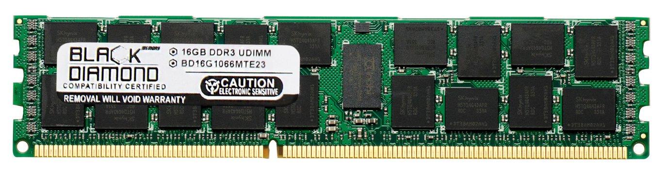16GB RAM Memory for SuperMicro MBD Motherboard MBD-X8DTE-O Dual LGA 1366 (ECC Registered) 240pin PC3-8500 DDR3 RDIMM 1066MHz Black Diamond Memory Module Upgrade