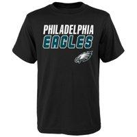 Youth Black Philadelphia Eagles Outline T-Shirt