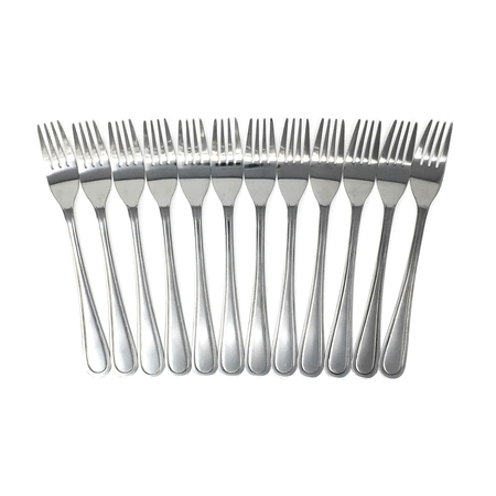 Handi-Ware Every Day Basic+ Mirror Polish Stainless Steel Cutlery Value Pack (12, Dinner Fork)