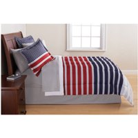 Mainstays Grey or Blue Stripe Bed in a Bag Bedding
