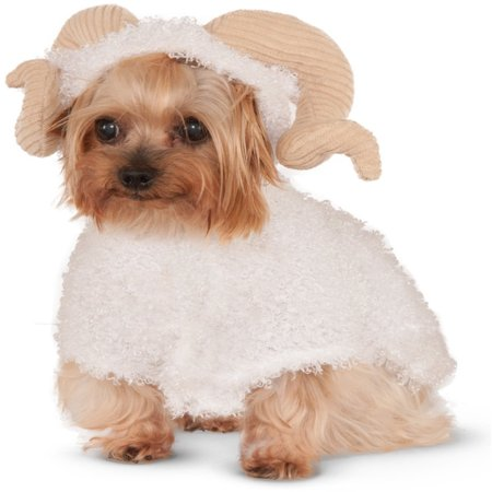 White Mountain Goat Ram For Pet Dog Costume - Costume For Dogs