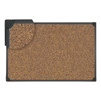 "Universal Tech Cork Board, 48"" x 36"", Black Frame"