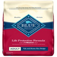 Blue Buffalo BLUE Life Protection Formula All Breeds Adult Dry Dog Food, Fish and Brown Rice Recipe, 30-lb