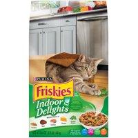 Friskies Indoor Delights Chicken, Beef, Salmon, Cheese, Garden Greens Flavors Adult Dry Cat Food, 3.15 lb