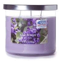 Mainstays Chrome Lid Jar Candle, Lilac Breeze, 14oz