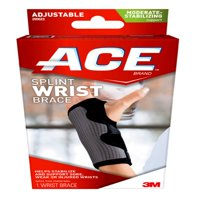 ACE Brand Reversible Splint Wrist Brace, Adjustable, Gray, 1/Pack