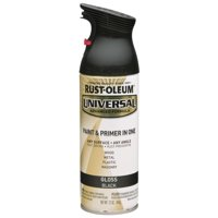 Rust-Oleum Universal All Surface Gloss Black Spray Paint and Primer in 1, 12 oz