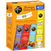 4C Totally Light 2Go Variety Pack Drink Mix, 24 Count, 2.3 Oz., 24 Count