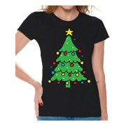 29180d735 Awkward Styles Christmas Tree Shirt Christmas Shirts for Women Christmas  Tree Ugly Christmas T-shirt