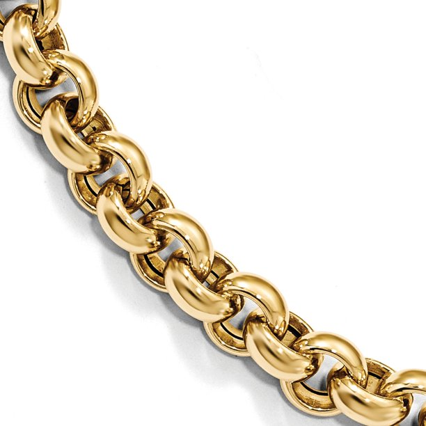 Leslie's Real 14kt Yellow Gold Polished Rolo Link Chain Bracelet; 7.5 inch; for Adults and Teens; for Women and Men