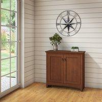 Bush Furniture Buena Vista Small Storage Cabinet with Doors in Serene Cherry