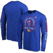 online store 0f0ca cb888 Kansas Jayhawks Fanatics Branded 2018 NCAA Men s Basketball Tournament  Final Four Bound Charge Long Sleeve T