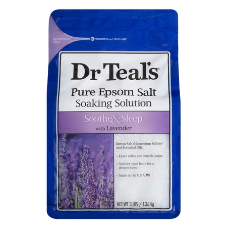 Hollywood Soak (Dr Teal's Pure Epsom Salt Soaking Solution, Soothe & Sleep with Lavender, 3 lb )