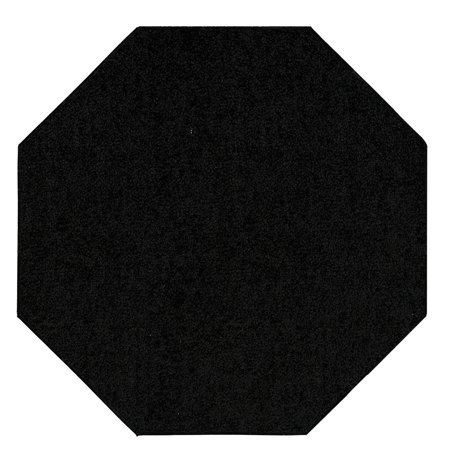 Saturn Collection (Saturn Collection Pet Friendly Area Rugs Black - 4' Octagon)