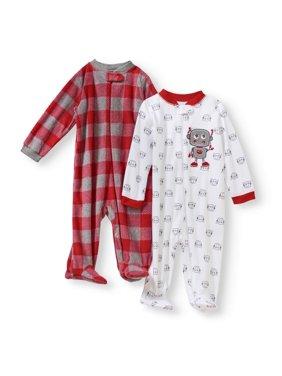 37f77c5867d0 White Baby Boys Pajamas - Walmart.com