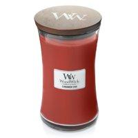 WoodWick Large Hourglass Candle, Cinnamon Chai