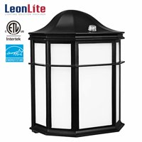 LEONLITE 14W LED Outdoor Security Light, LED Wall Lights, Outdoor Exterior Wall Lantern, Wall Sconces Lighting Fixtures, 5000K Daylight, Black