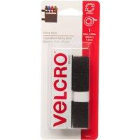 VELCRO® Brand Sticky Back 24in x 3/4in Roll, Black