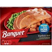 Banquet Classic Turkey Frozen Single Serve Meal, 10 Ounce