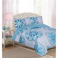 Your Zone Ditsy Floral Medallion Comforter Set with Shams