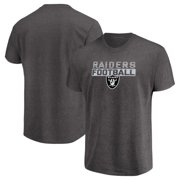 Men s Majestic Heathered Charcoal Oakland Raiders Come Into Play T-Shirt a627f3510