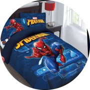 3-PC Marvel Spiderman Spider Tech Twin Comforter Set With Fitted Sheet