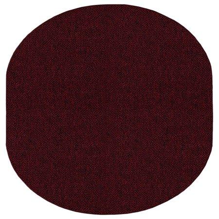Galaxy Way Solid Color Indoor Outdoor Area Rugs Burgundy - 10'x12' Oval ()