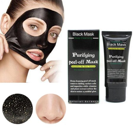 Purifying Black Peel off Mask, Charcoal Face Mask, Blackhead Remover Deep Cleanser, Acne Black Mud Face Mask - Enzyme Peel Mask
