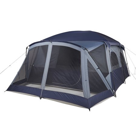 Ozark Trail 12 Person Cabin Tent With Screen Porch And 2 Entrances
