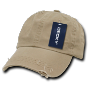 99c5ffd6f86 DECKY Vintage Frayed Washed Polo Hats Hat Caps Cap For Men Women khaki