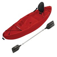Sun Dolphin Patriot 8.6 Sit-On Kayak Red, Paddle Included