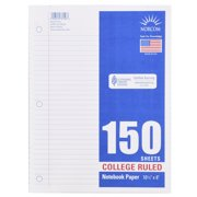 """Norcom 150 Sheets College Ruled Filler Paper, 10.5"""" x 8"""""""
