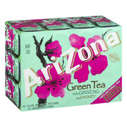 (24 Cans) Arizona Green Tea With Ginseng And Honey, 11.5 Fl Oz, 12 Count