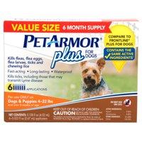 PetArmor Plus Flea & Tick Prevention (4-22 lbs), 6 Treatments