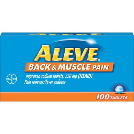 Aleve Back & Muscle Pain Reliever/Fever Reducer Naproxen Sodium Tablets, 220 mg, 100 Ct ()