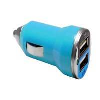 EpicDealz Dual USB Car Charger 3.1Amp 15.5W - 1.0&2.1A Smart Power Supply For Amazon Kindle Fire HD - Compact Blue