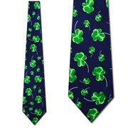 Shaded Clovers (Navy) Necktie Mens Tie