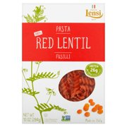(2 pack) Pasta Lensi Red Lentil Fusilli, 10 oz