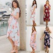56a26f29794e7 4 Colors Pregnant Women Long Maxi Dresses Maternity Gown Photography Photo  Shoot Clothes S-XL