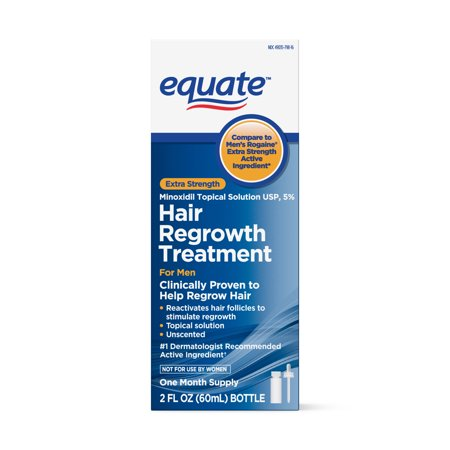 Equate Men's Minoxidil Hair Regrowth Treatment for Men, 1-Month