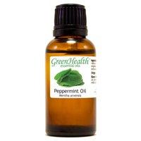 Peppermint Essential Oil - 1 fl oz (30 ml) Glass Bottle w/ Euro Dropper - 100% Pure Essential Oil by GreenHealth