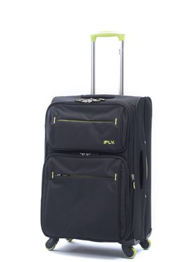 "iFLY Soft Sided Luggage Accent 20"", Black and Green"