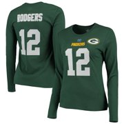 b23cd1d03 Aaron Rodgers Green Bay Packers Majestic Womens Fair Catch V Name and  Number Long Sleeve T