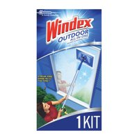 Windex Outdoor All-In-One Glass Cleaning Tool Starter Kit, 1 ct