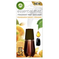 Air Wick Essential Mist Fragrance Oil Diffuser Refill, Mandarin & Sweet Orange, 1ct, Air Freshener