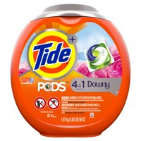 Tide PODS with Downy, Liquid Laundry Detergent Pacs, April Fresh, 61 count