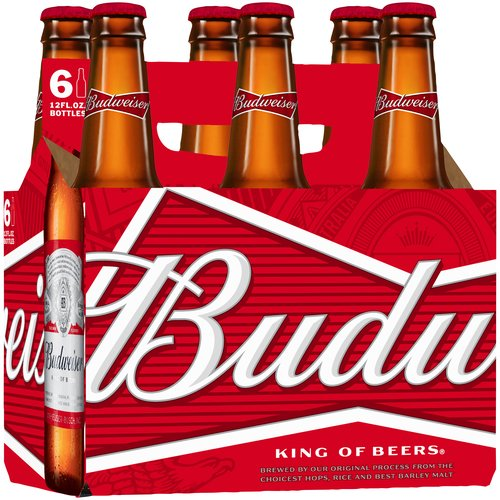 Budweiser Beer, 6 pack, 12 fl oz