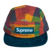 7e7bbec4007 Supreme Plaid Suede Brim Strapback Camp Cap Multicoloured 24100