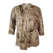 7607e8e803 jm collection women s printed faux 2pc jersey blouse