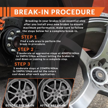 Max Brakes Front Premium Brake Kit [ OE Series Rotors + Ceramic Pads ] KT140841 | Fits: 2014 14 2015 15 Chevy Cruze GAS Engine Models w/276mm Front Rotor - image 6 of 8